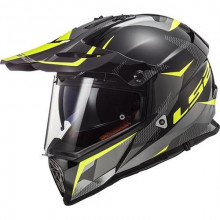 LS2 MX436 Pioneer Ring Black Titanium Hi Vis Yellow