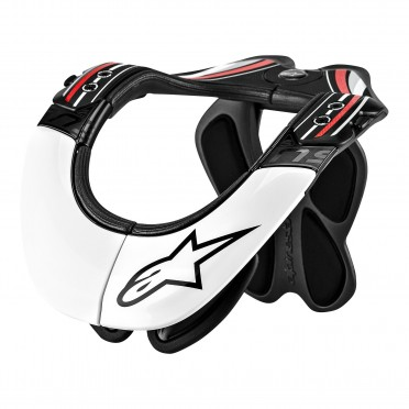 BNS PRO NECK SUPPORT BLACK/RED/WHITE