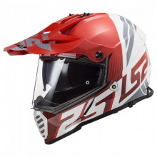 LS2 MX436 PIONEER EVO EVOLVE RED WHITE
