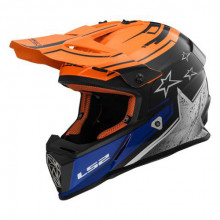LS2 MX437 Fast Core Black Orange