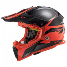 LS2 MX437 Fast Evo Roar Matt Black Red