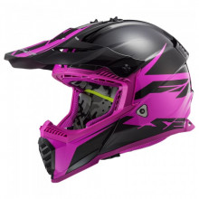 LS2 MX437 Fast Evo Roar Matt Black Purple