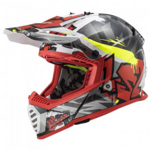 LS2 MX437 Fast Evo Crusher Black Red