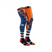 100% SOSETE LUNGI 100% REV Knee Brace Performance Moto Navy/Orange