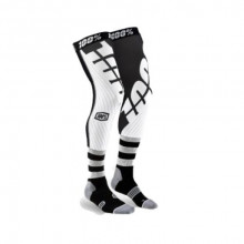 100% REV Knee Brace Performance Moto Black/White Socks