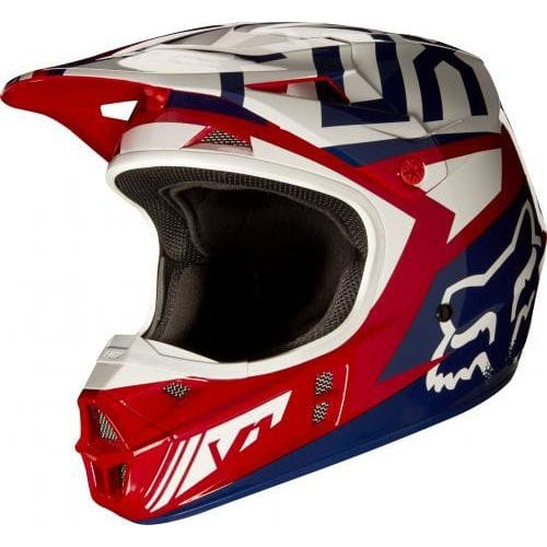 FOX  MX-HELMET V1 FALCON HELMET ECE RED/WHITE