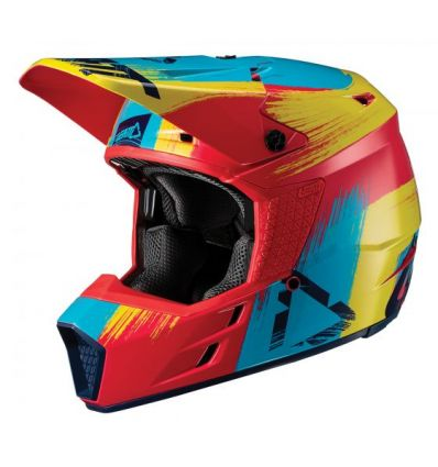 Leatt HELMET GPX 3.5 V19.1 RED/LIME DOT + ECE